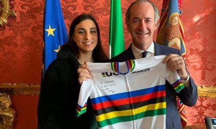 Zaia incontra la padovana Camilla Alessio campionessa di ciclismo su pista