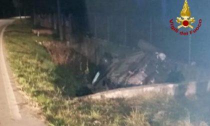 Auto in un canale a San Martino di Lupari: ferito il conducente