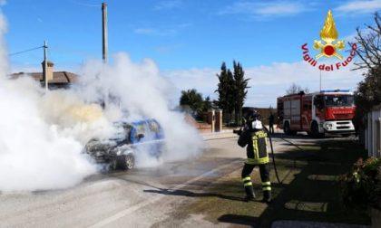 Fumo dal cofano, autista scappa prima che la sua auto prenda fuoco