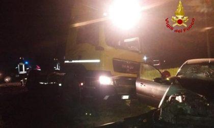 San Giorgio delle Pertiche, auto contro camion: un ferito