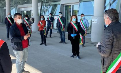 Schiavonia: sindaci protestano per l'ospedale, multati per assembramento