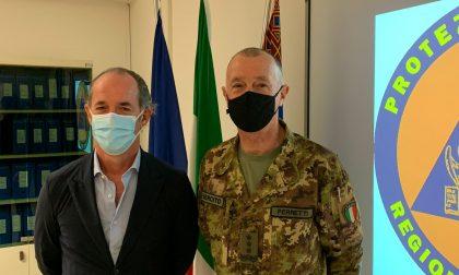 Il Generale di Corpo d'Armata Roberto Perretti incontra Luca Zaia