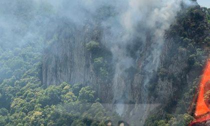 Fiamme nei boschi di Rocca Pendice: bruciano i colli Euganei