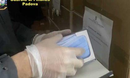 La Guardia di Finanza di Padova sequestra 610mila mascherine non a norma