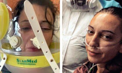 Fuori dalla terapia intensiva la mamma poliziotta del video col casco