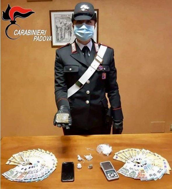 Giovane spacciatore padovano arrestato dai Carabinieri