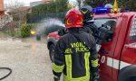 Bombola del gas prende fuoco in un garage