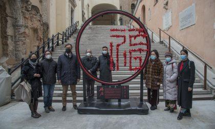Capodanno cinese, inaugurata l'installazione a Palazzo Moroni