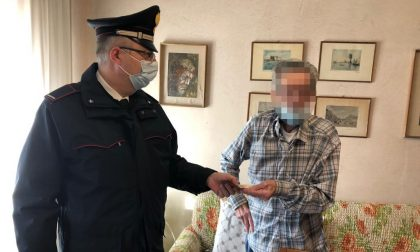 Anziano di Vo' non può recarsi in posta per ritirare la pensione, lo aiutano i Carabinieri