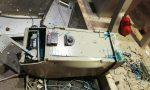 """Le foto della devastazione della """"banda della ruspa""""  al Q8 di Este: colpo fallito"""