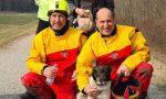 Salvato un cane che era rimasto intrappolato nella tana di una nutria