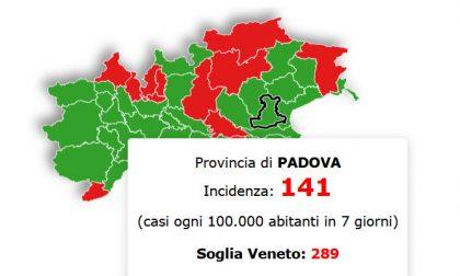 In Veneto situazione stazionaria, Padova sotto la soglia critica