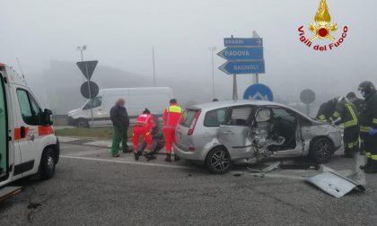 Le foto dei due incidenti di stamattina a Cadoneghe e sulla tangenziale Nord