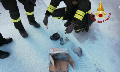 Pacco postale in fiamme al centro di smistamento, scatta l'allarme: era un cortocircuito