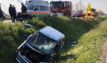 Le foto del violento scontro tra auto sulla strada dei pescatori a Codevigo
