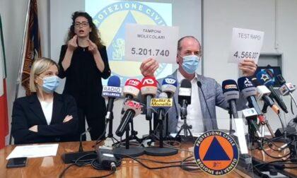 """Covid, Zaia: """"Vaccini, prenotazione 40enni anticipata a oggi alle 16""""   +453 positivi   Dati 14 maggio 2021"""