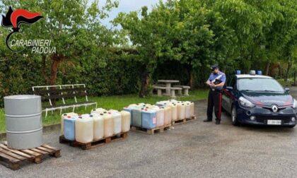 Presina di Piazzola, nel garage avevano gasolio da vendere: denunciati tre moldavi