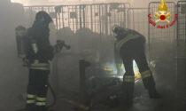 Abano Terme, le foto dell'incendio nel locale lavanderia dell'albergo