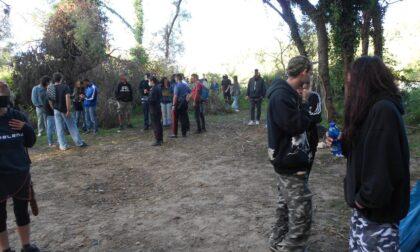 Cittadella, le foto del rave sull'argine del Brenta: 54 giovani denunciati