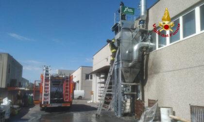 Incendio in un'azienda metalmeccanica del padovano