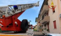Paura a Cadoneghe, le foto dell'incendio divampato in una palazzina