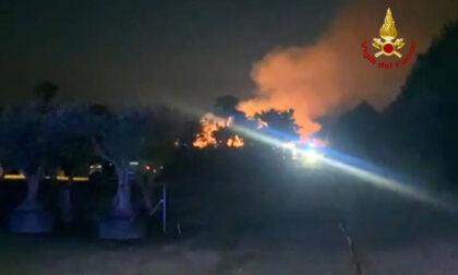 Incendio in un vivaio a San Giorgio in Bosco: bruciato maxi cumulo di ramaglie