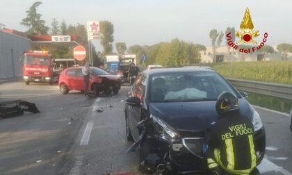 Strada del Santo, incidente tra due auto: feriti un bambino e la sua mamma