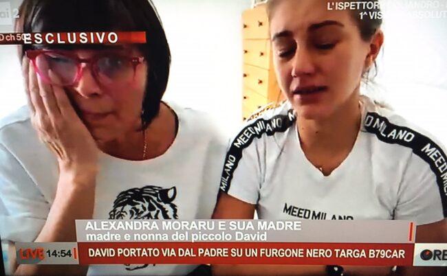 """Il disperato appello di mamma Alexandra in tv: """"Aiutatemi a ritrovare il mio David"""""""